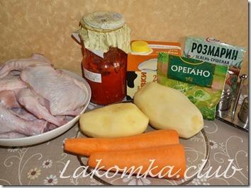 картофель с курицей в сливках тушеный в духовке (3)