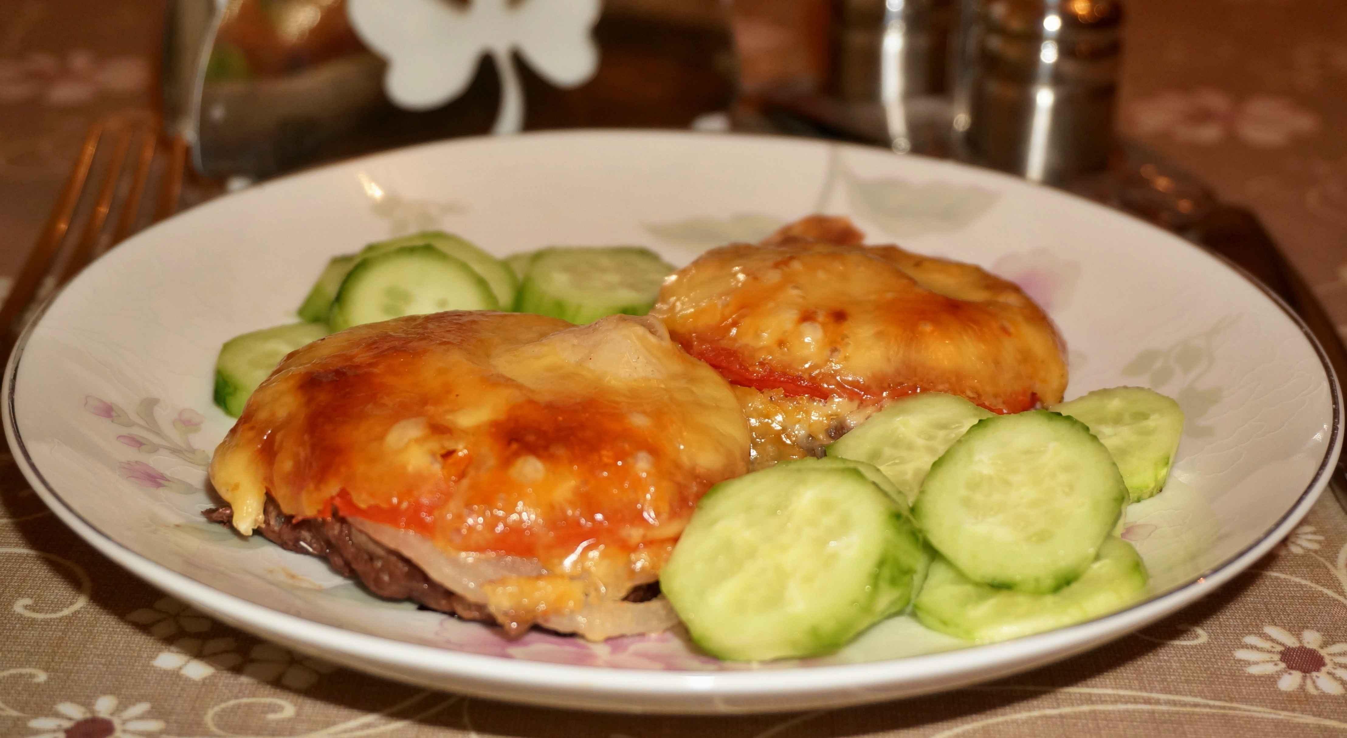 Котлета с грибами и сыром пошаговый рецепт