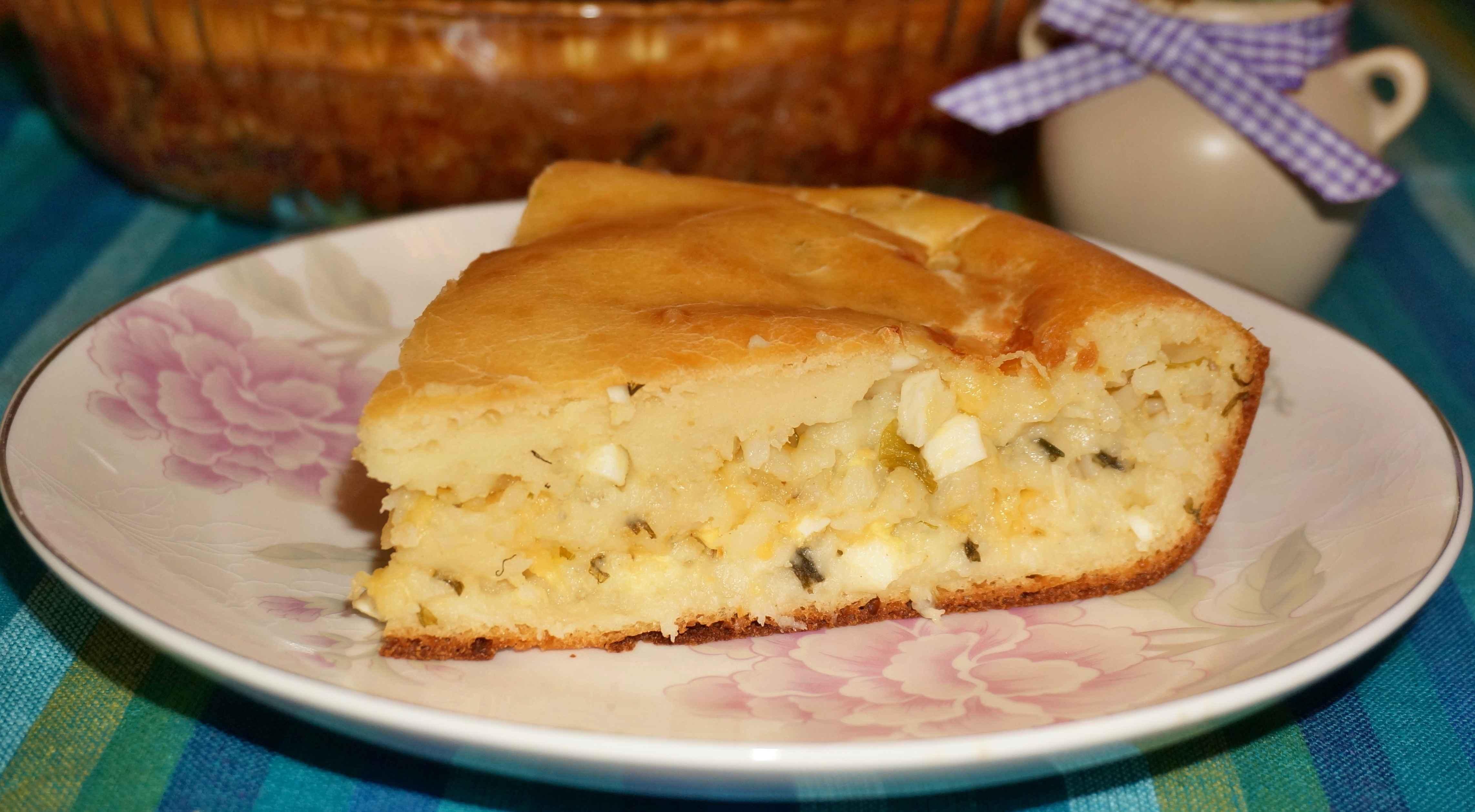 Пирожки с рисом и яйцом пошаговое