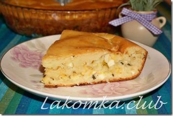 заливной пирог с рисом и яйцом