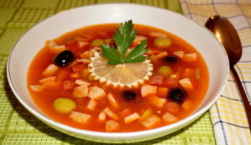 суп солянка с сборная рецепт с фото