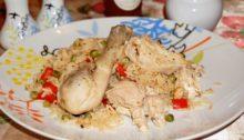 Курица с рисом запеченная в духовке