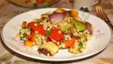Салат из кускуса с запеченными овощами