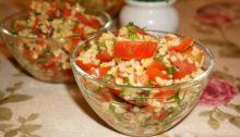 Салат из булгура с помидорами и зеленью Табуле
