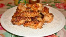 Куриные крылышки в духовке с корочкой По-азиатски