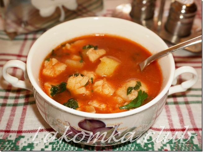 томатная похлебка из рыбы и картофеля (2)
