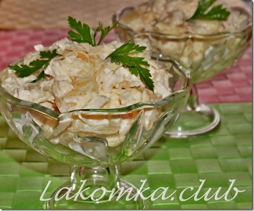 Салат из курицы с ананасом и сыром — копия (1)