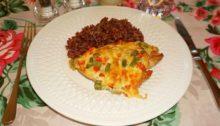 Филе индейки со стручковой фасолью и болгарским перцем