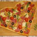 Пицца в форме сердца