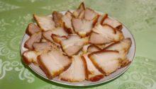 Сало по-китайски в соевом соусе