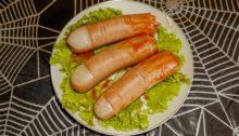 Пальцы из сосисок