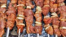 шашлык из свинины в винном маринаде