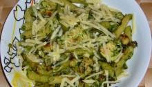 паста пенне с курицей и шпинатом