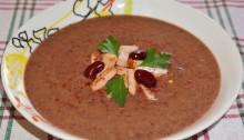 Суп из консервированной красной фасоли