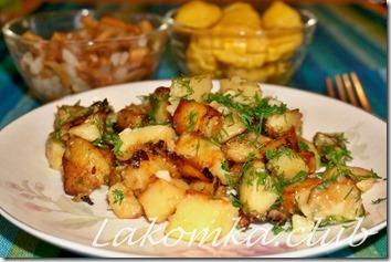 картофель с луком жареный на сковороде (2)