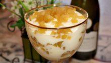 Десерт из яблок со сливочным кремом Яблочное тирамису