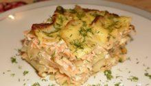 Семга запеченная с картофелем