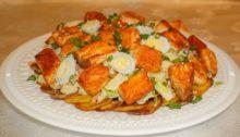 Салат Мимоза с лососем и перепелиными яйцами