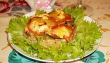 Запеканка с овощами и фаршем в духовке
