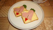 Бутерброд Сердечко