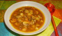 Суп из белых грибов с картофелем
